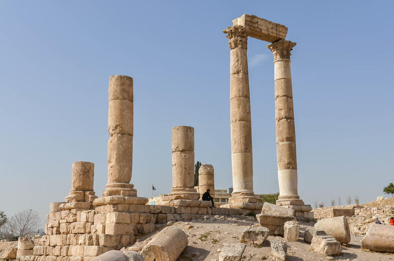 The Temple of Hercules, located inside the Citadel complex in Amman. This structure dates from 161-166 AD.