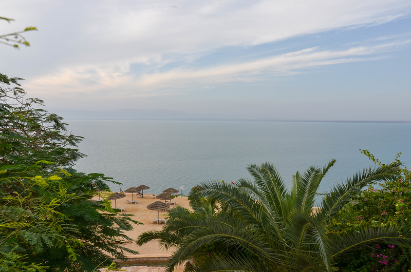 View of the Dead Sea from the Jordan Valley Marriott Resort & Spa.