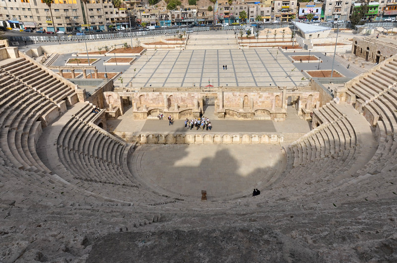 A view of the entire amphitheatre from the top row of seats.