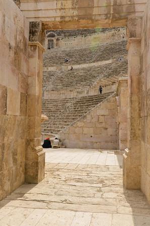 The entrance to Amman's Roman Theatre.
