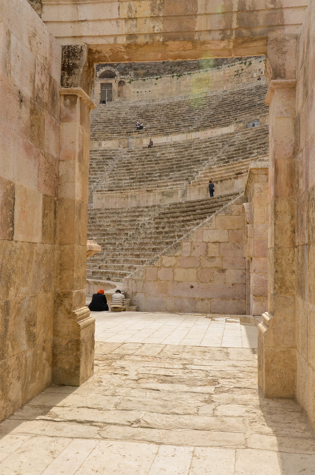 The entrance to Amman's Roman Theatre.