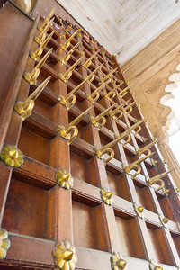 The spikes high above me are to stop elephants from ramming the door.