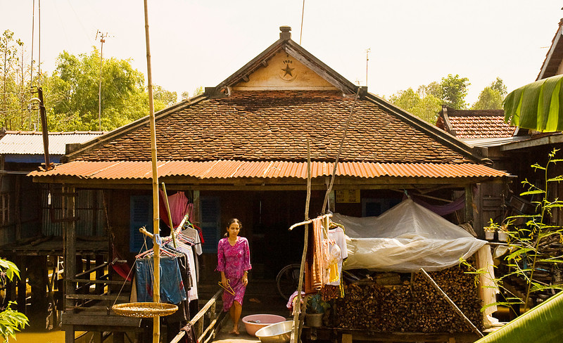 Most Vietnamese homes have the date of construction registered under the gable end eave. This home was built in 1956.