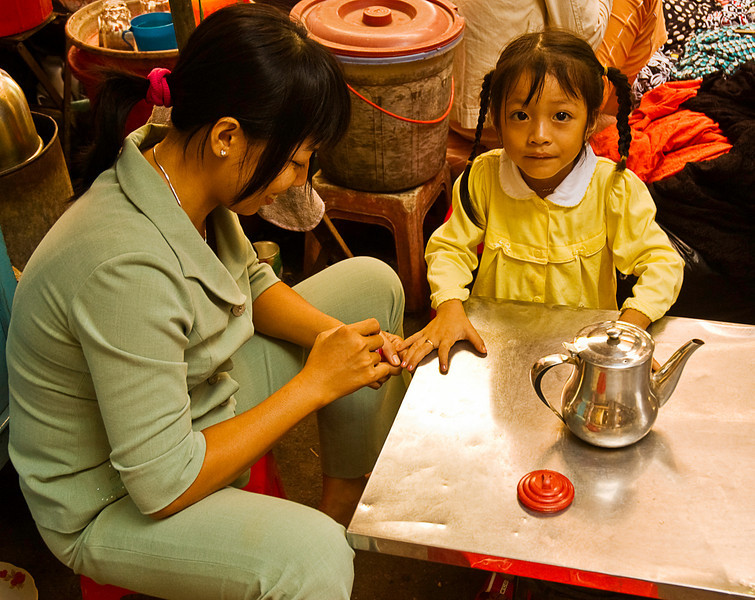 Manicure by mom inside the central market