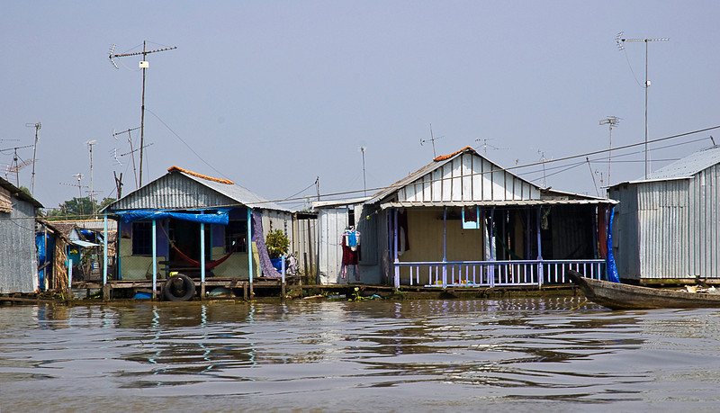 Chau Doc in An Giang province is on the Mekong River; many of the houses are floating.