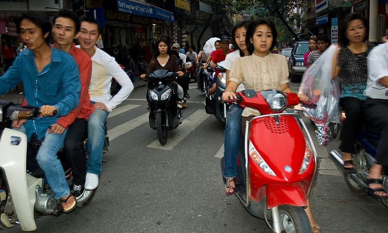 There are over eighty million people in Viet Nam; there appear to be at least that many motorbikes.