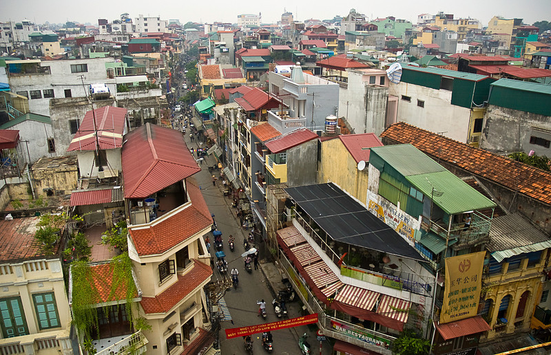 Rooftop view of Hanoi
