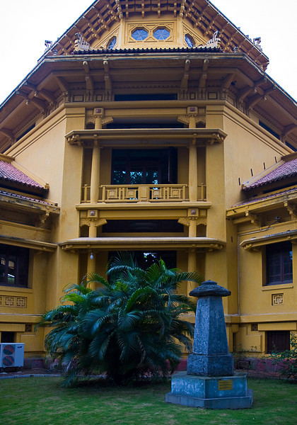 National Museum exterior, Hanoi, a classic French Colonial style building