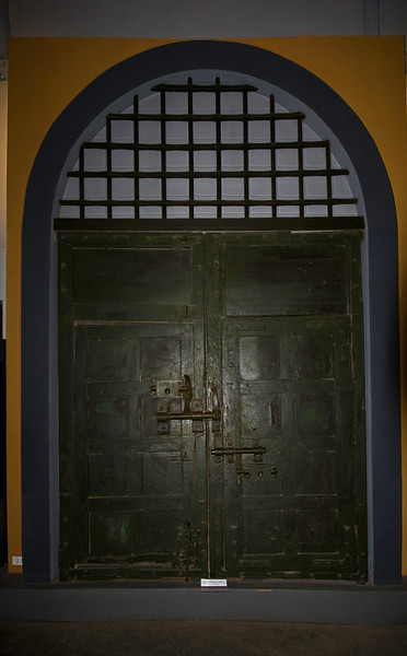 "Main door, Hoa Lo Prison which was called by the American POW's ""the Hanoi Hilton."""
