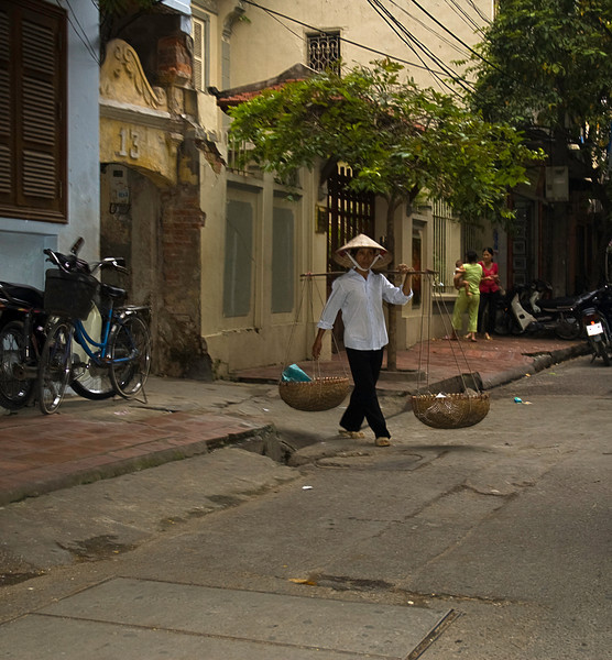 Delivery baskets, Hanoi side street