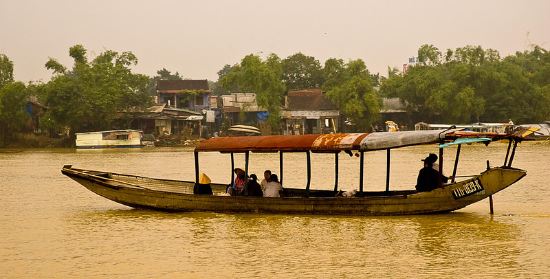 Water taxi on the Perfume River, Hue