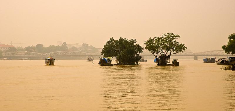 The Perfume River at flood, Hue