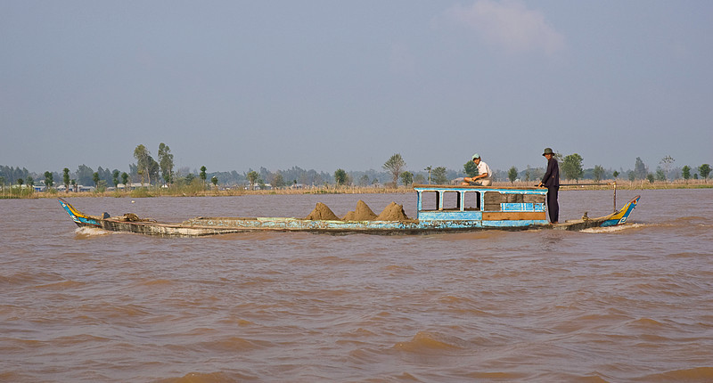 The most renewable resource on the lower Mekong, dredged sand