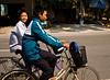 Bicyclists outside Hai Phong, Quang Ninh province