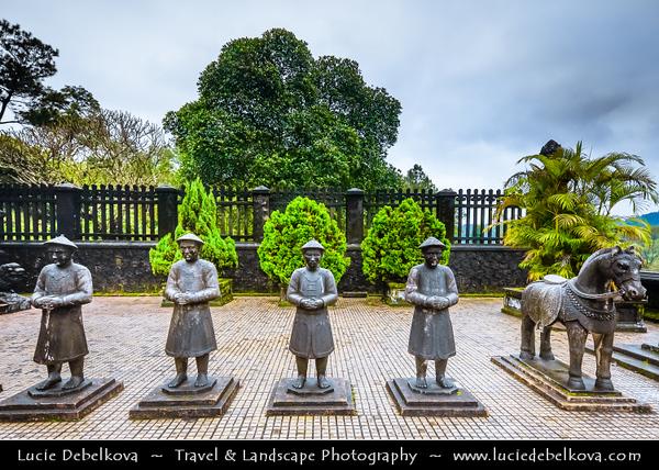 Vietnam - Hue - Huế - 化 in chữ Nôm - UNESCO World Heritage Site - Royal Tomb of Emperor Khai Dinh