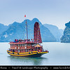 Vietnam - Ha Long bay - Vịnh Hạ Long - Descending Dragon bay - UNESCO World Heritage site - located in Quảng Ninh province
