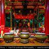 Vietnam - Ho Chi Minh City - Thành phố Hồ Chí Minh - Saigon - Sài Gòn - Worship in Traditional Chinese Buddhist Temple - Sacred House of Worship & Prayer