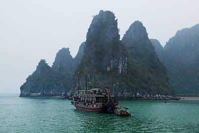 Hạ Long Bay, Vietnam Boating around the limestone islands on Hạ Long Bay.