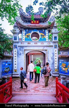 Vietnam - Hanoi - Hà Nội - Ngoc Son Temple (Jade Mountain Temple) on the Jade Island in Hoan Kiem Lake (Hồ Hoàn Kiếm) between the Old Quarter and the French Quarter