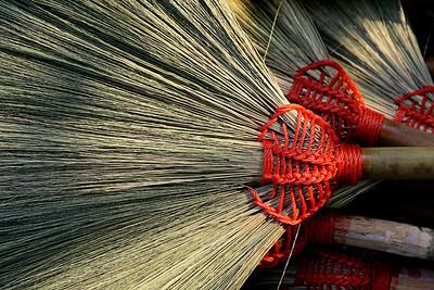 Handmade brooms from Luang Prubang, Laos