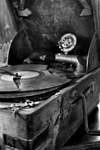 Old Record Player in Siem Reap hotel