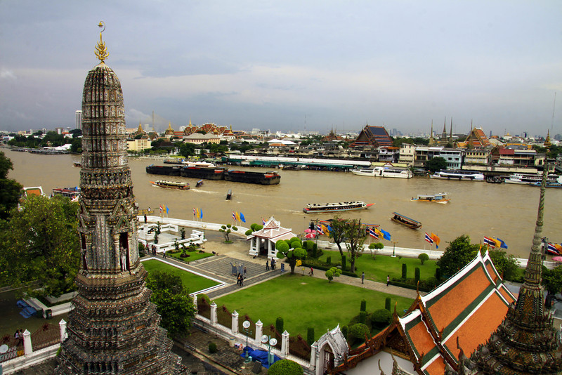 View from the Temple of the Dawn  - Thailand