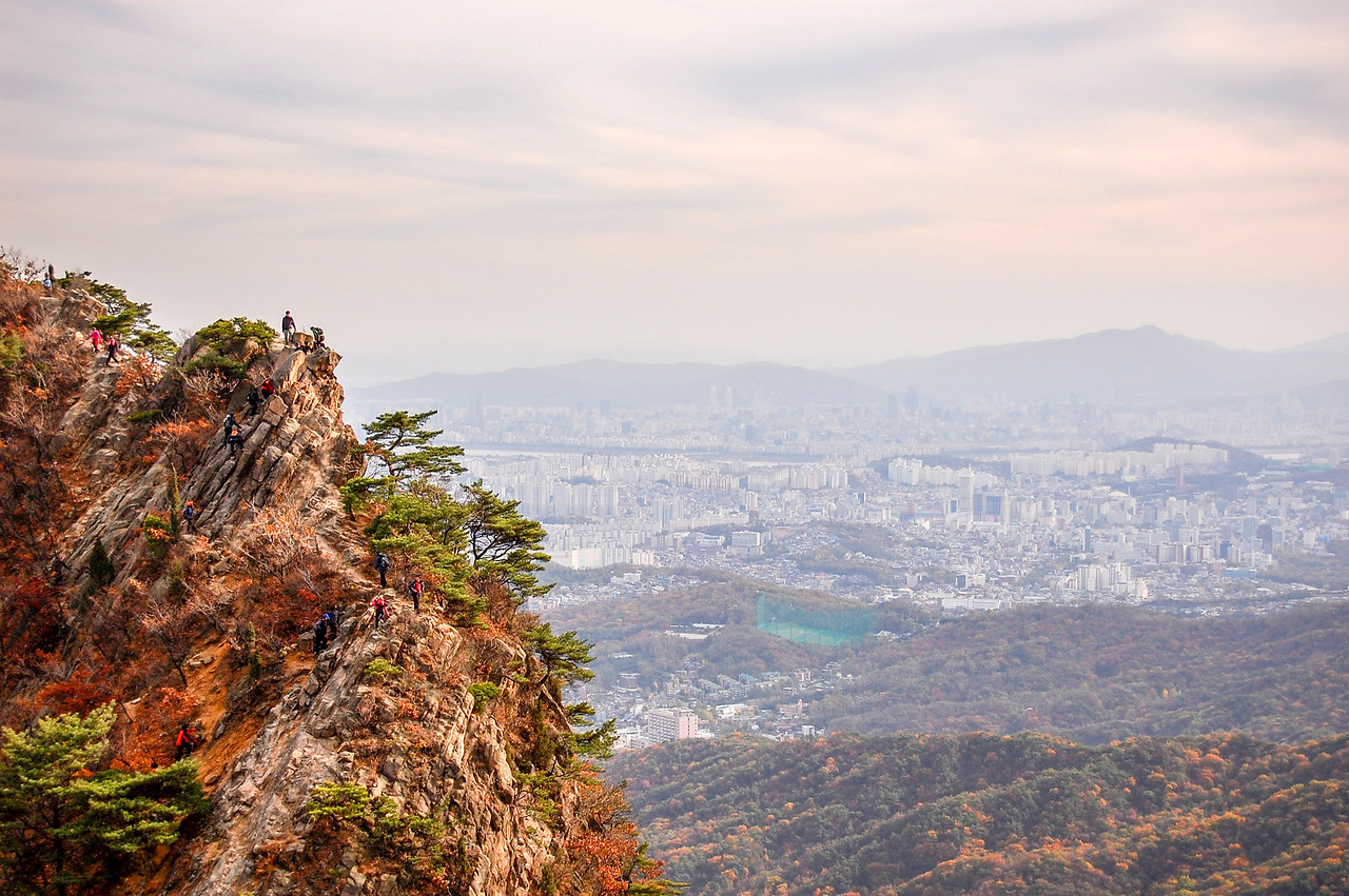 Mountain view over Seoul