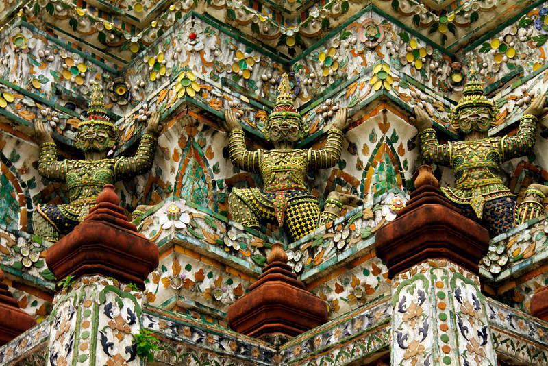 Temple of the Dawn Close Up  - Thailand
