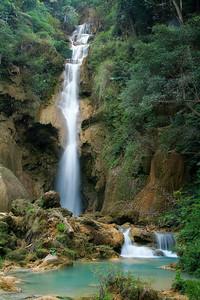 Tat Kuang Si Falls near Luang Prabang, Laos