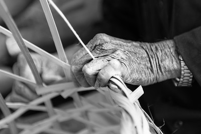 Weavers aged hands ... Hoi An ... Vietnam