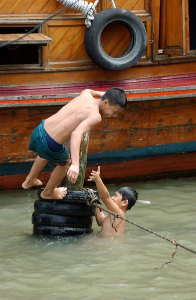 Children playing, Bangkok
