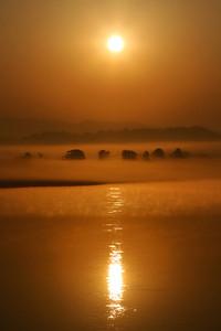 Sunrise along Mekong, Thailand
