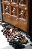 Shoes at entrance to Hindu temple, Malaysia