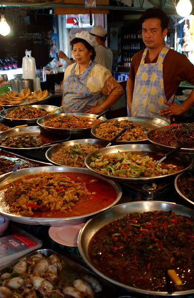 Outdoor food market, Bangkok