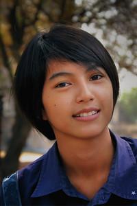 Young Thai girl at Ayhuttaya ruins