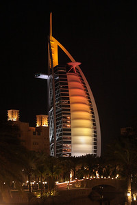 Burj Al Arab, view from the Souk Madinat in Dubai, UAE