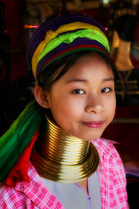 Long-necked Girl from Northern Thailand
