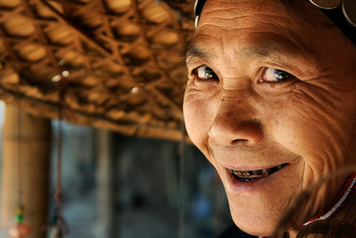 Opium-chewing tribal woman of Northern Thailand