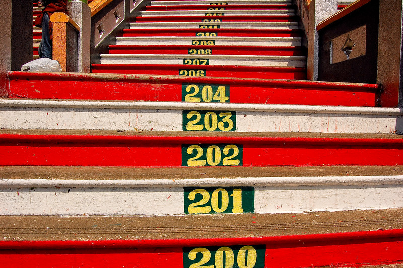 Steps at the Batu Caves