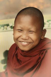 Happy Monk near Ankor Wat, Cambodia