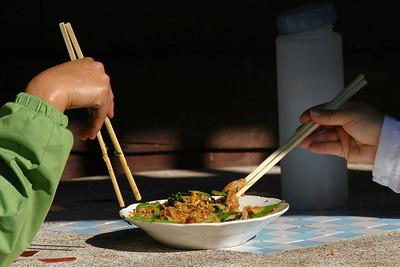Sharing Lunch in Luang Prabang, Laos