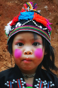 Young tribul girl in northern Thailand