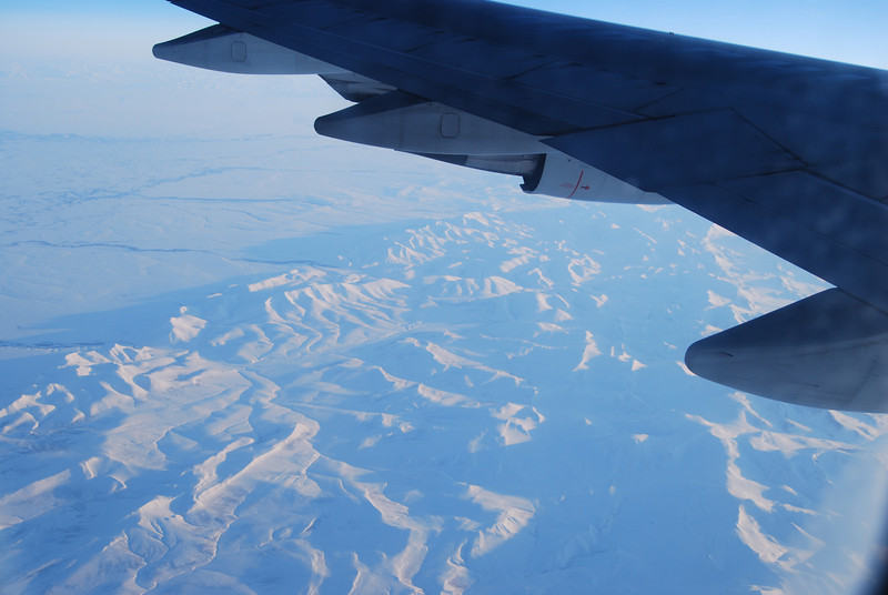 Somewhere over the Arctic