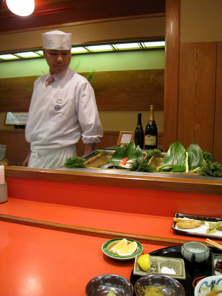 An exotic teriyaki restaurant at the Imperial Hotel in Tokyo.