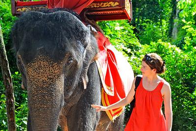 Siem Reap, Cambodia July 2011 Angkor Thom Gate, Cambodia