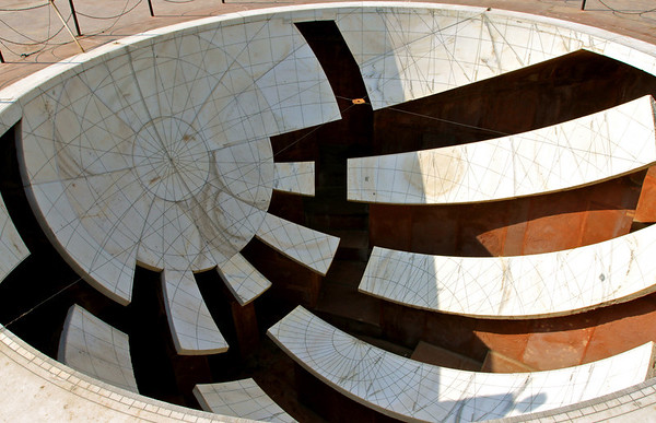 Jai Prakash Yantra Calibrated other astronomical instruments at Jantar Mantar Jaipur, India January 2010