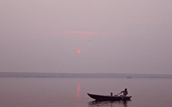 Sunrise on the Ganges Varanasi, India December 2009