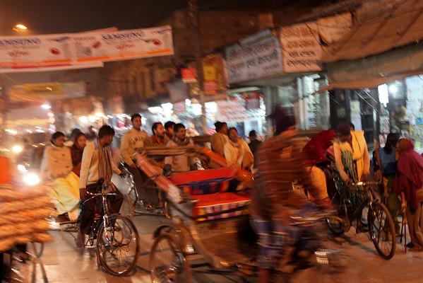 Rickshaw Rush Hour Varanasi, India December, 2009