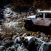 On the jeep trail heading up to Pearl Pass.  Our first experience fording a stream!
