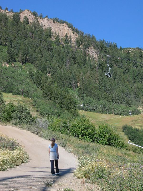 Paul and I decided to climb Aspen Mt before we rode up on the gondola later for the wedding.